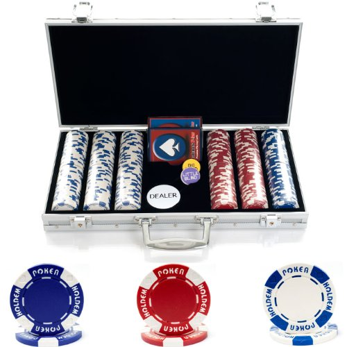 Trademark Poker 300 Hold'Em Poker Chips Set with Aluminum Case, 11.5gm by Trademark Poker