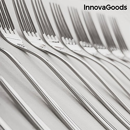 Amazon.com | innovagoods ig811600 Stainless Steel Cutlery Cook D Lux (72 Pieces), Silver: Dinnerware Sets