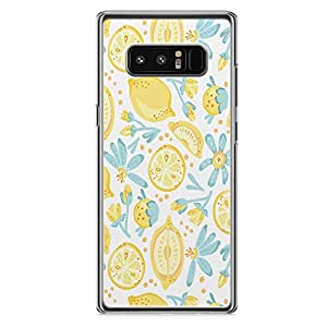 Samsung Note 8 Transparent Edge Phone Case Lime Phone Case Cute Phone Case Lemon Pattern