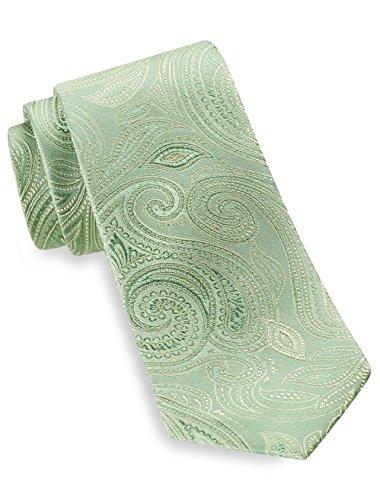 Geoffrey Beene Big and Tall Bountiful Paisley Silk Tie