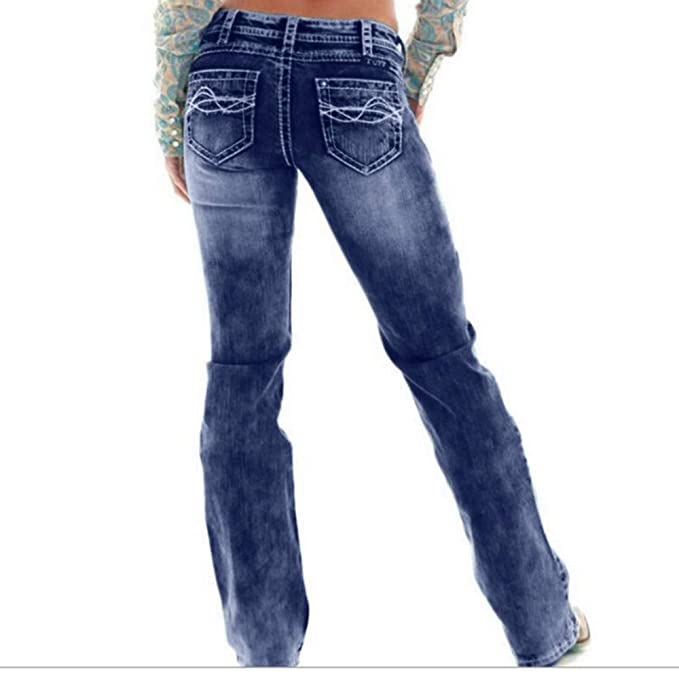 Kehen Womens Amanda Classic Tapered Jeans Wide Leg Palazzo ...