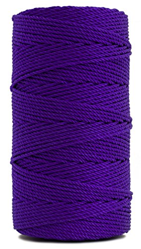 Rosary Twine, Twisted Nylon. Size #36, Purple, 1 lb 1-pack ()