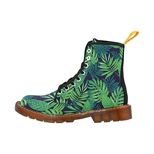 D-story Shoes Acquerello Foglie Di Palma Stringate Stivali Fahion Per Donna
