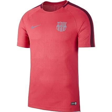 318e2fa88 Amazon.com   Nike 2018-2019 Barcelona Pre-Match Dry Training Shirt (Tropical  Pink)   Sports   Outdoors