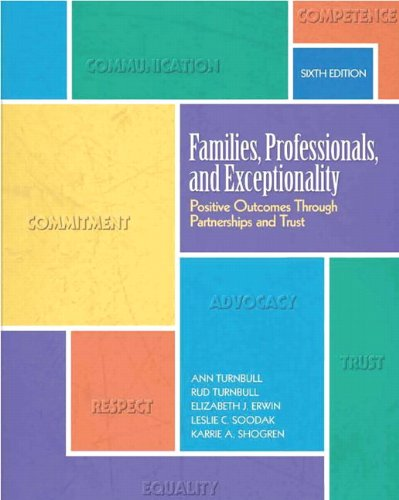 Families, Professionals, and Exceptionality: Positive...