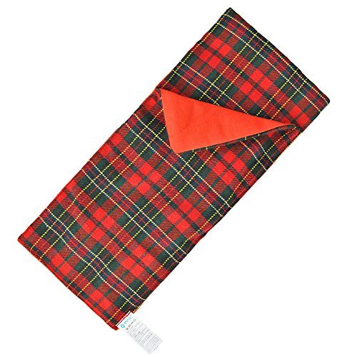 E-TING Sleeping Bag Christmas Accessory fit Elf Doll (Red-Green Plaid) Doll is not included