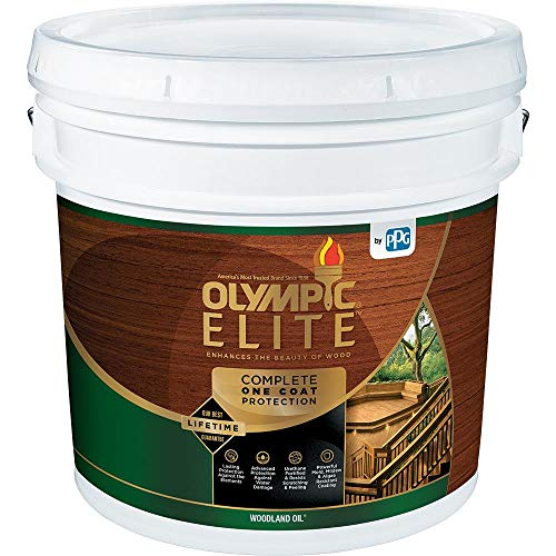 (Olympic Stain 80113-3 Elite Woodland Oil Stain, 3 Gallons, Mahogany Blaze)