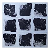 Art3d Liquid Dance Floor Colorful Home Decor Tile, 12'' x 12'' Black (9 Tiles)