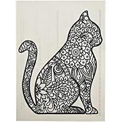 Zendoodle Iron On Transfers Cat Adult Coloring Inspired