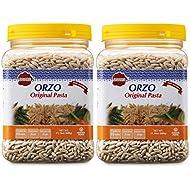Baron's Kosher Original Orzo Pasta 21.16-ounce Jars (Pack of 2)