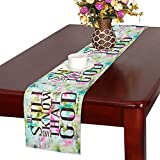 InterestPrint Christian Bible Verse Be Still And Know That I Am God Psalm 46:10 Cotton Linen Placemat Table Runner,Rectangle Table Runner Cotton Linen Cloth Placemat16 x 72''