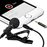 Boostech Professional Lavalier Lapel Microphone-Clip-on Omnidirectional Condenser Microphone for Apple iPhone Android Smartphones PC & Camera Perfect for Recording Youtube,Interview,Studio,Video