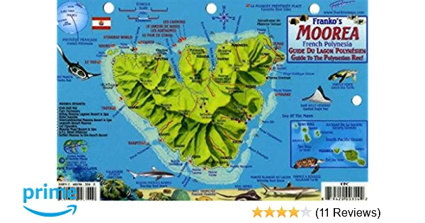 Moorea French Polynesia Map Reef Creatures Guide Franko