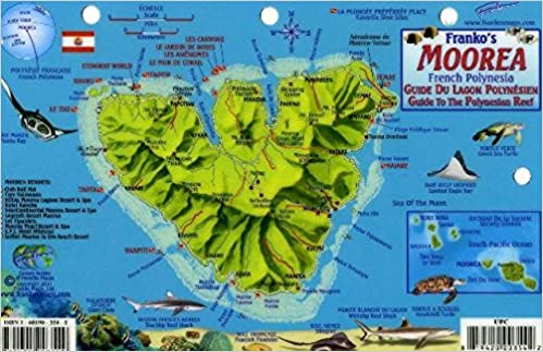 Moorea french polynesia map reef creatures guide franko maps moorea french polynesia map reef creatures guide franko maps laminated fish card franko maps ltd 9781601903549 amazon books gumiabroncs Images