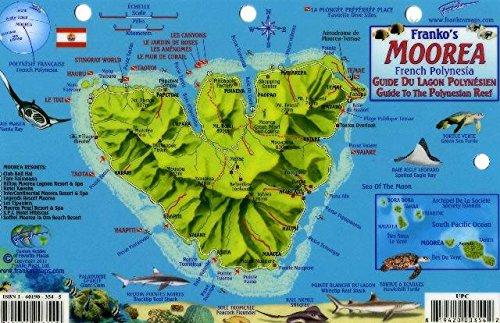 Amazon In Buy Moorea French Polynesia Map Reef Creatures