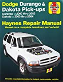 Dodge Durango 2000-2003, Dodge Dakota 2000-2004 (Hayne's Automotive Repair Manual)