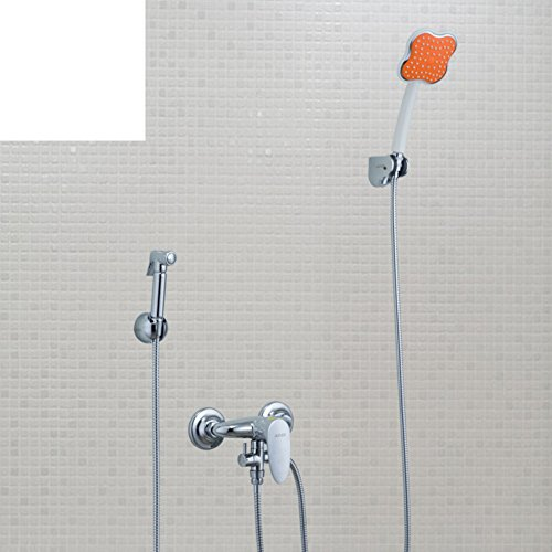 Multi-function hot and cold shower/ bidet/ copper spray gun Kit/ dual-head-C good