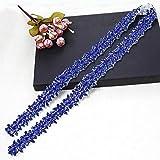 Bridal Applique for Wedding Dress Belt Sash (Blue)