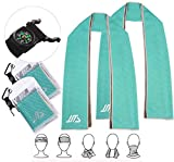 7. JUSTA - Instant Cooling Towel, Super Absorbent Snap Cooling Towels for Sports and Fitness (40''x12) ... (Pack of 2 Turquoise)