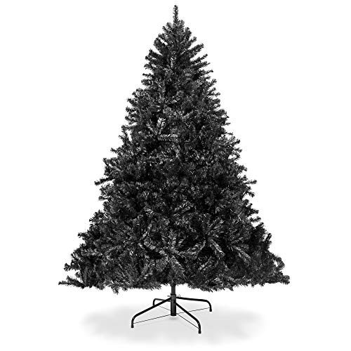 Best Choice Products 7.5ft Artificial Full Christmas Tree Holiday Decoration w/ 1,749 Branch Tips, Stand - Black (Trees Christmas Gold Artificial)