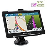 Car Navigation 7 inch Touch Screen + 8GB Aonerex Vehicle GPS Navigation System with Built-in Lifetime Maps,FM Car Navigation and Spoken Turn-by-Turn Directions