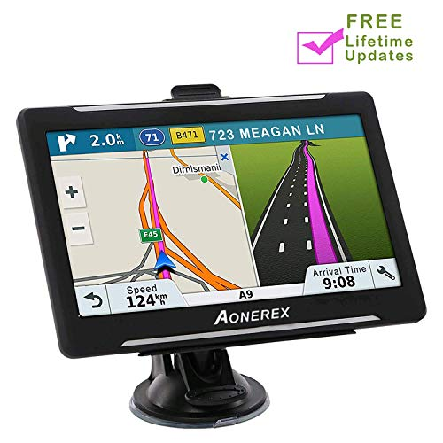 Car Navigation 7 inch Touch Screen + 8GB Aonerex Vehicle GPS Navigation System with Built-in Lifetime Maps,FM Car Navigation and Spoken Turn-by-Turn Directions (Selling A Car To Someone In Europe)