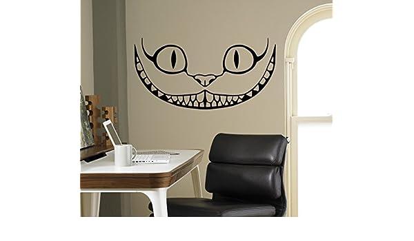 Amazon.com: Smiling Cheshire Cat Vinyl Decal Alice in Wonderland Wall Sticker Cartoons Home Interior Children Kids Room Decor 11(aiw): Home Improvement