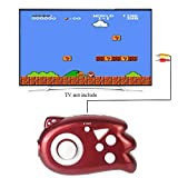 QINGSHE Mini TV Handheld Game Console Player for Kids,Connect and Play 89 in 1 Retro Classic Games,Old School Arcade Style Plug & Play Video Games Controller for Children Boys Girls 4-12 Years Old-Red