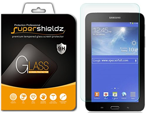 Supershieldz for Samsung Galaxy Tab E Lite 7.0 / Tab 3 Lite 7.0 Tempered Glass Screen Protector, Anti-Scratch, Anti-Fingerprint, Bubble Free, Lifetime Replacement Warranty