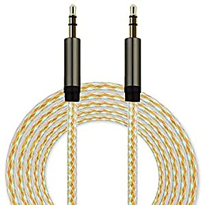 MONOMONO - 3.5mm AUX AUXILIARY CORD Male to Male Stereo Audio Cable For PC iPod MP3 CAR New (Gold)