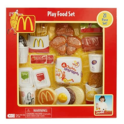 Amazon Mcdonalds Play Food Chicken Nugget Set Toys Games