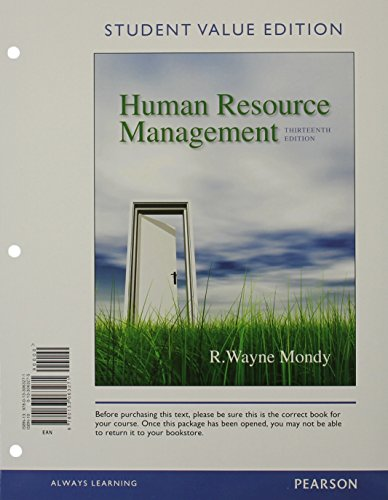 Human Resource Management, Student Value Edition Plus 2014 MyManagementLab with Pearson eText -- Access Card Package (13th Edition)
