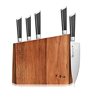 Cangshan Y2 Series Knife Set, 6-Piece German Steel Block, Silver