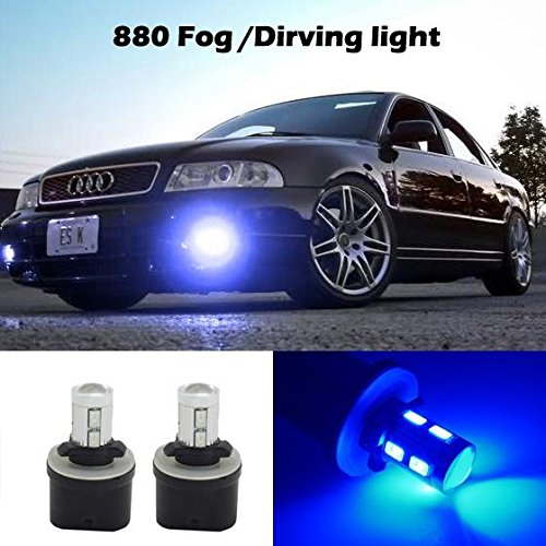 Partsam 2x 880 892 893 899 LED Bulbs Blue Fog Driving Lights Daytime Running light Bulbs Ultra Brihgt Led (2003 Tahoe Running Lights compare prices)