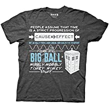 Ripple Junction Doctor Who Wibbly Wobbly Quote Adult T-Shirt