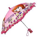 Disney Girls' Little Sofia The First Character Rainwear Umbrella, Pink, Age 3-7