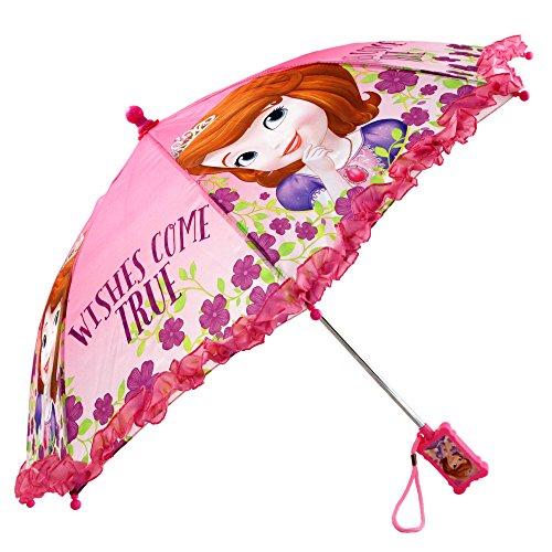 Disney Girls' Little Sofia The First Character Rainwear Umbrella, Pink, Age 3-7 by Disney (Image #1)