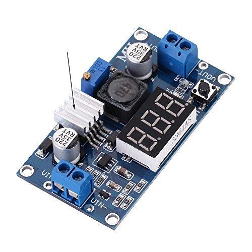 Volt Module - LM2596 DC-DC Buck Converter 4-40V to 1.25-37V Step-Down Voltage Regulator Power Module Volt Stabilizer with LED Voltmeter Display & Heat Sink by AKOBEARLA