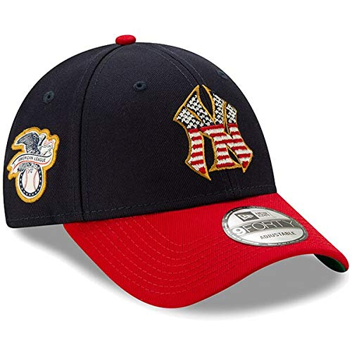 New Era Men's New York Yankees Navy/Red 2019 Stars & Stripes 4th of July 9FORTY Adjustable Hat ()