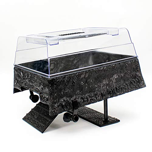 Penn Plax Turtle Tank Topper - Above-Tank Basking Platform for Turtle Aquariums, 17 x 14 x 10 Inches