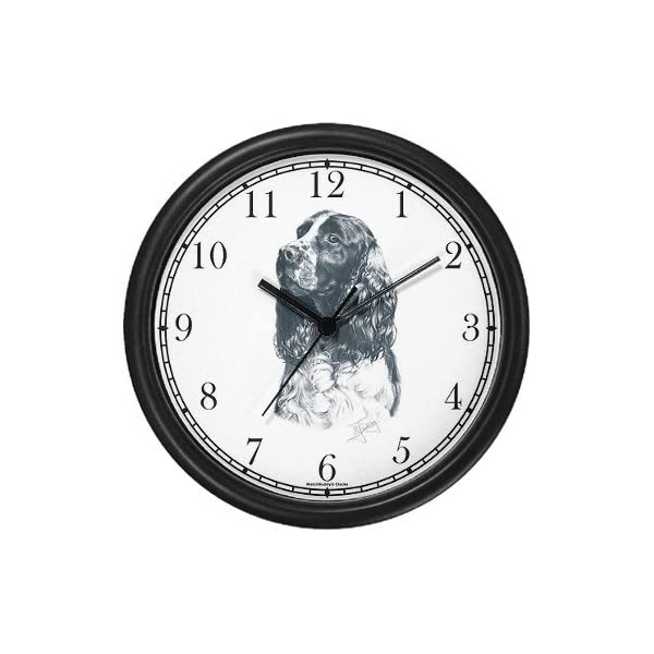 English Springer Spaniel Dog (MS) Wall Clock by WatchBuddy Timepieces (White Frame) 1