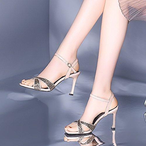 Lentejuelas Con Finas Sandalias VIVIOO Alto Salvaje De Mujeres Tacón Verano Zapatos De Verano Sandalias De Mujer Pink Shoessandals Tirantes Mujer De De Tacón Altos Alto Tacones OHxHw7qC
