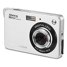 "Aberg Best 21 Mega Pixels 2.7"" LCD Rechargeable HD Digital Camera - Digital video camera - Students cameras - Handheld Sized Digital Camcorder Indoor Outdoor for Adult /Seniors / Kids (Silver)"