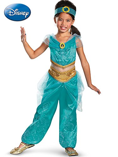 Disguise Disney's Aladdin Jasmine Sparkle Deluxe Girls Costume,