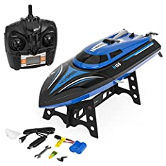 Get wavey with this remote-control speed racing electric boat. Watch in astonishment as it zips through the water, jumping waves and cutting sharp corners. With an auto-flip design that turns the boat back over when it flips upside down, you ...