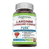 Pure Naturals L-Arginine L-Citrulline Complex, 1000 Mg, 240 Count