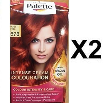 Palette couleur cheveux rouge