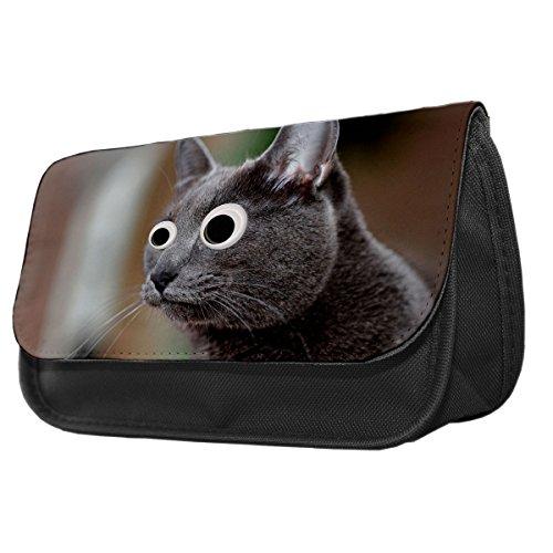 Korat Katze Googley Augen Tier Bleistift Fall/Make-up Tasche 183