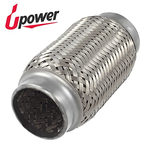 Upower 2 Inch Diameter Exhaust Flex Extension Pipe Connector Tube, 6