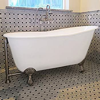 54 Quot Cast Iron Swedish Tub With No Faucet Holes Amp Brushed